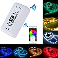 Ciecoo 12V-24V LED RGB WiFi Controller per la striscia della luce di RGB LED / lampadina 3 canali Smartphone per iOS / per iPhone, iOS, Android APP controllo con musica / funzione di temporizzazione - Acquario Sistema Di Illuminazione