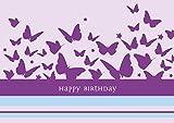Erhältlich im 1er 4er 8er Set: Klappgrusskarte/Glückwunschkarte/Geburtstagskarte/Grusskarte mit fliegenden Schmetterlingen. Text:
