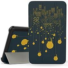 MoKo Samsung Galaxy Tab 3 Lite Funda - Ultra Slim Ligera Smart-shell Funda para Samsung Galaxy Tab 3 Lite T110 / T111 7.0 Inch Tablet, Noche de la Ciudad (NO va a caber el Tab 4 7.0 o el Tab 3 7.0)