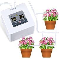 HZT DIY Kit Goutte-à-Goutte pour Plante d'intérieur, Système d'arrosage Automatique avec 30 Jours de minuterie programmable, Idéal pour l'arrosage des Plantes Pendant Les Vacances