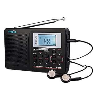 tivdio v 111 portable radio fm mw shortwave dsp world band pocket receiver with digital alarm. Black Bedroom Furniture Sets. Home Design Ideas