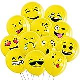 BALLONS de emoji LINDO-100PCS mooklin BALLONS de Fête BALLONS de hélium jeu pour jeu de Rigolo ou décoration de Fête de Mariage anniversaire...