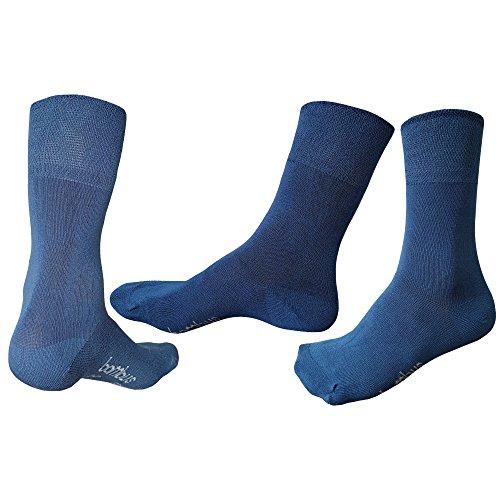 5-10 Paar Bambus Business-Socken für Herren & Damen ✓Hoher Tragekomfort ✓Ohne Gummi-Bund|Größen von 35 über 43-46 bis 50| Damensocken & Herrensocken in schwarz, weiß von SGS (43-46, 5 Paar Jeans) (Socken, Weiße Jeans)