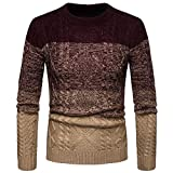 UFACE Mens Farbverlauf Winter Pullover Gestrickte Top Striped Sweater Outwear Bluse