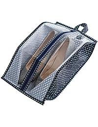 Bolsas de zapatos, Chickwin 1 Pcs accesorios de viaje con la cremallera para los hombres y de las mujeres Cordón a prueba de polvo portátil con ventana transparente (Verde)