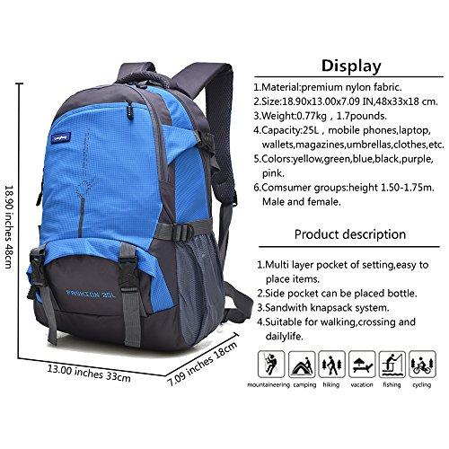 Maker 25L Wanderrucksack Sport im Freien Radfahren Rucksack Tasche Camping Rucksack Wasserdicht Leichte Rucksack Blau