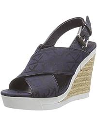 Calvin Klein Jeans Elaine Ck Logo Jacquard/Patent - Sandalias Mujer