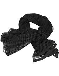 UQ - Bufanda de camuflaje unisex para camping, negro
