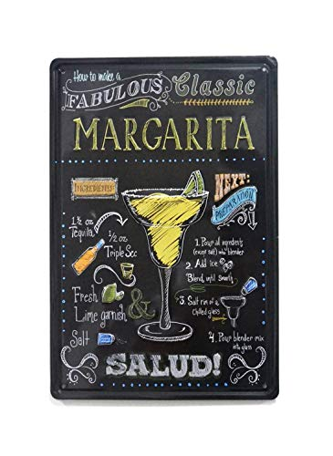 NaCraftTH Make A Martini Cocktail Metall Eisen Blechschild Retro Vintage Art Wand Bar Pub Home Decor, 20,3x 30,5cm Antik 8