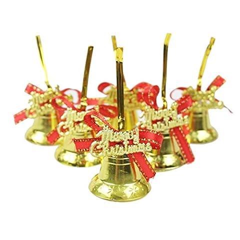 Remeehi Christmas Tree Hanging Pendant Party Decoration Ornaments Xmas 6pcs Bells Jingle