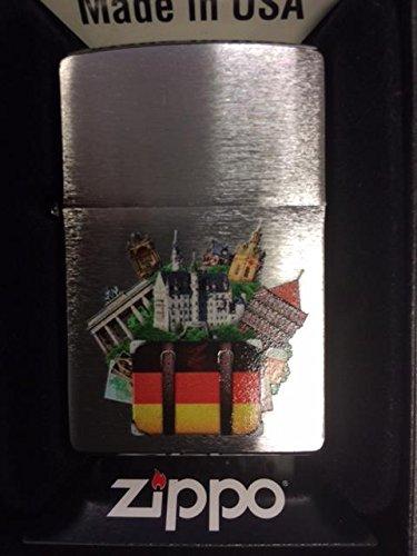 Chrome Brushed ZIPPO neu+ovp MS WINDY NEW YORK DESIGN (York Feuerzeug Zippo New)