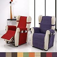 Cubre Sillón Relax Modelo Darsena, Color Natural, Medida 50cm de respaldo