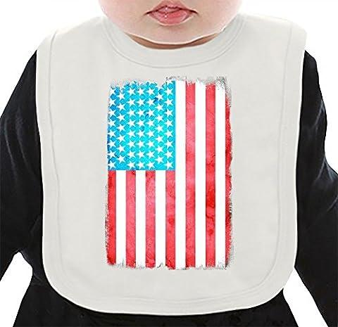 USA Flag Bavoir Organique Medium