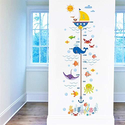 Wandaufkleber Kindergarten Höhe Wachstum Figur Wandaufkleber Kind Junge Mädchen Unterwasser Seefisch Anker Auf der Suche nach Nemo Story Decor Poster (Nemo Auf Suche Mädchen Der Nach)