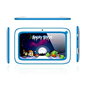 Kool (TM) Kid's Tablet Blue PC 7 Inch Android 4.4.2 KITKAT A23 Dual Core 1.5GHz 4GB Dual Camera WIFI (Blue)