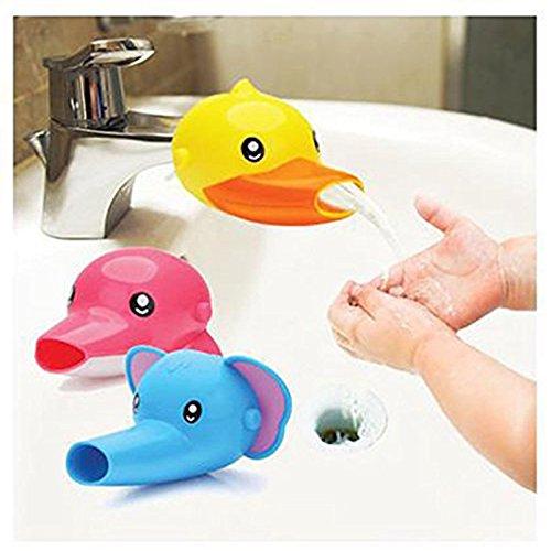 Extensores de baño grifo del fregadero grifo de los niños de dibujos animados - Extender forma del delfín -Sink Manipular extensor para los niños, bebés, niños
