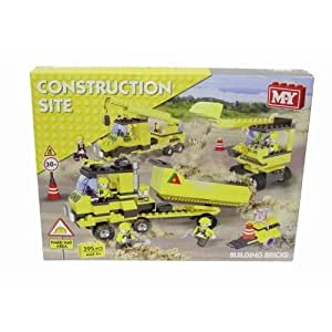 MY CONSTRUCTION SITE BUILDING BRICKS SET. 395 PIECES