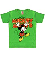 Logoshirt 80/86 Kids Vintage Disney Unisex BabyMickey Hands Up T-Shirt for 18 Months