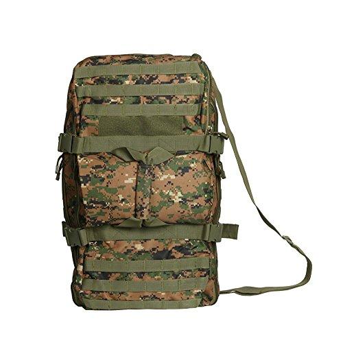 Zaino 50L borsa tattica del camuffamento viaggio trekking portatile uno spalla spalle zaino multiuso all'aperto , acu jungle digital