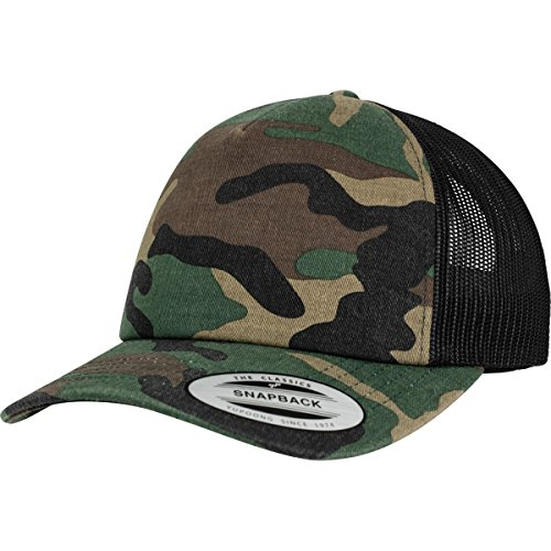 Flexfit Trucker Cap, Woodcamo/Blk, one size