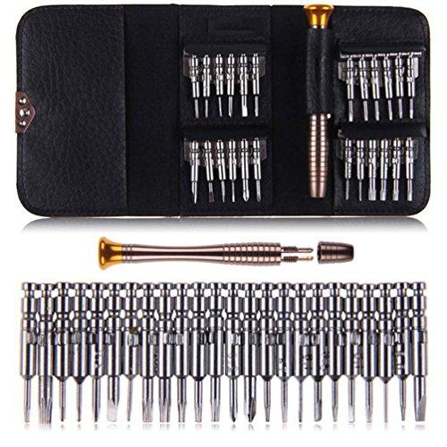 Demarkt Mini Schraubendreher Set 25-teilig Schraubenzieher Mini Schraubendrehersatz Werkzeugset Reparaturwerkzeug für Handy, Uhr, Laptop,PC, Brillen