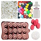 'Wax Melt Making Kit (33) - Fizzywhiz - Eco Soy Wax - Fragrance Oil - Glitter - Candle Dye - Flower Mould - (140. Cinnamon Bark & White Ginger)