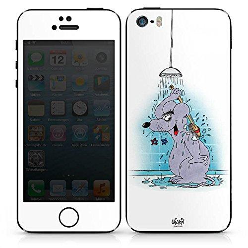 Apple iPhone 4s Case Skin Sticker aus Vinyl-Folie Aufkleber Uli Stein Fanartikel Merchandise Maus DesignSkins® glänzend