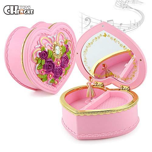 TianranRT Musik Box \\ t CHENGKE Niedlich Schöne Spielzeug Tanzen Ballerina Musik Box Beste Geschenk Für Mädchen (Rosa) (Soft Doll Ballerina)