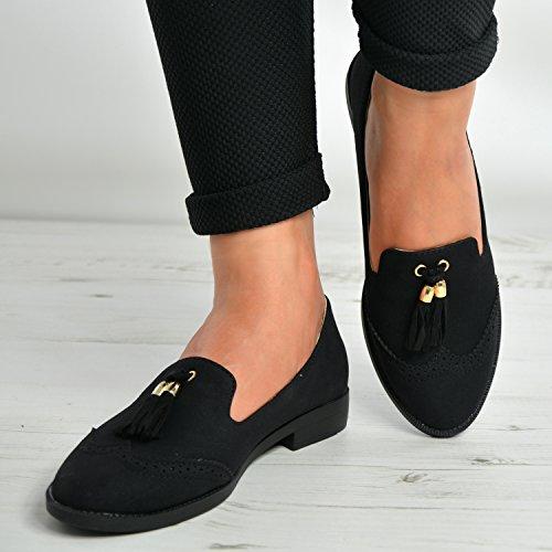 Cucu Fashion , Damen Ballerinas schwarz schwarz Schwarz