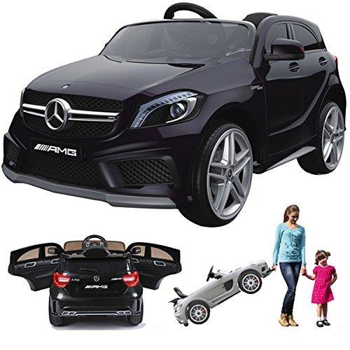 Preisvergleich Produktbild simron Mercedes-Benz A45 AMG SUV Ride-On 12V Kinderauto Kinderfahrzeug (Schwarz)