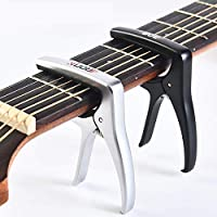 Uktunu T3 Gitarre Capo Kapodaster Gitarre Kapo Capodaster für alle 6-Saitige Gitarren Akustikgitarre Konzertgitarre Westerngitarre Klassische Gitarre