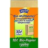 Swirl Lot de 7x10sacs poubelle biologiques en papier 10L