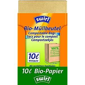 Swirl Bio-Müll-Papierbeutel, 100% kompostierbar