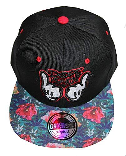 Snapback Cap (Dope Flower Black)