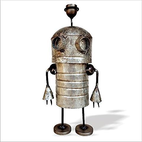 De Kulture Fonctionne doté d'alien, Statue, figurine   recyclé fer Figure   fabriqué à la main Curio   Eco Friendly Sculpture   5* 5* 12Dimensions (pouces)