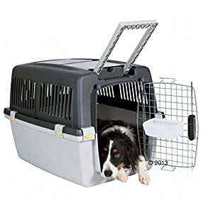 Trixie-Sturdy-Dog-Kennel-Gulliver-An-Ideal-Dog-Carrier-For-Travelling-by-Plane-Train-or-Car