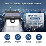 2x 30 LED Solarleuchten für Außen, Solarlampe garten, Solarwandleuchte mit Bewegungsmelder, 3 Intelligenten Modi für Gartendeco, Balkon, im Freien