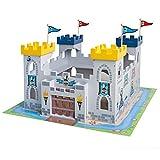 roba Ritterburg '3-in-1', Holz Burg Set, 2 Burgen steckbar zu einem großen Fort