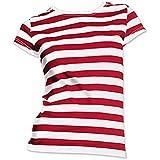 Dónde está el dama traje camisa roja y blanca de la raya tamaño- pequeña