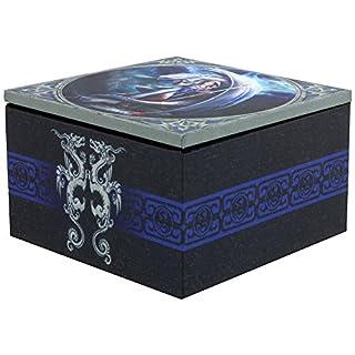 ANNE STOKES Dragon Jewellery Box With Mirror 10x10cm
