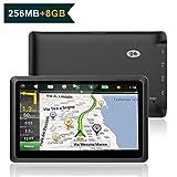 Nicksea 5 Zoll GPS Navigation Navi Europe Traffic Auto Navigationsgerät Touchscreen mit kostenlosen lebenslangen Kartenupdates für ganz Europa PKW KFZ Fahrspurassistent Sprachführung 8GB 256MB