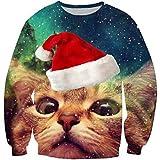 Goodstoworld Katze Pullover Weihnachten Lustig Damen Herren Funny Christmas Shirt 3D Ugly Xmas Pullover Sweater Cat Jumper S