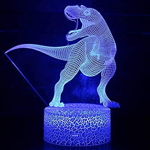 Spezial- & Stimmungsbeleuchtung Schreibtischlampen Für Kinder Rex Argentinosaurus 7 Color Change 3D Nachtlichtlampe Mit Optischer Täuschung
