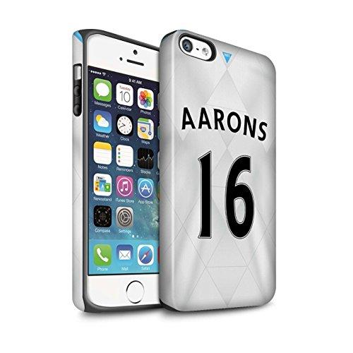 Offiziell Newcastle United FC Hülle / Matte Harten Stoßfest Case für Apple iPhone SE / Rivière Muster / NUFC Trikot Away 15/16 Kollektion Aarons