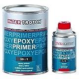 Troton 6 x EPOXY Primer 2K GRUNDIERUNG 10:1 FÜLLER Epoxidharz 1,1kg + HÄRTER