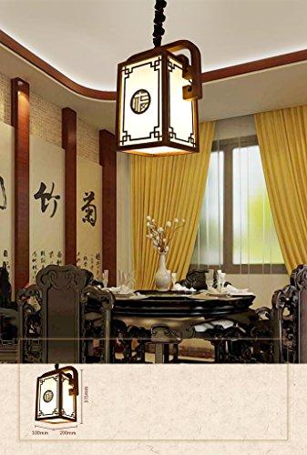 Preisvergleich Produktbild Kronleuchter Chinesischer Kronleuchter Massivholz Kronleuchter Imitation Schaffell Lampen Restaurant Kronleuchter Aisle Light (ohne Lichtquelle) ( größe : 33*22 )