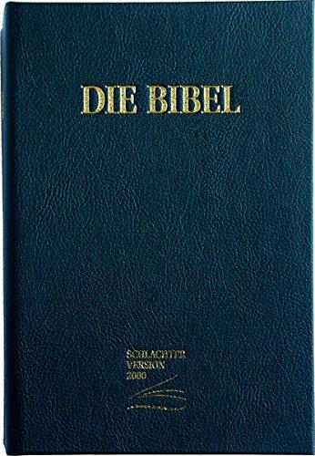 Schlachter 2000: Großdruckausgabe, Cover schwarz (Baladek) / Fadenheftung