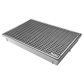 ACO 600x400 Schuhabstreifer Maschenrost mit Bodenwanne Vario Light Abtreter Fußmatte