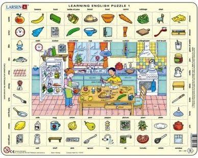 Larsen - Puzzles éducatifs Learning English English English 1 Apprendre l'anglais 70 pièces Larsen Puzzle   Matériaux De Haute Qualité  1a3dfd