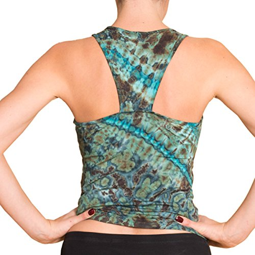 Panasiam® qualitäts Leggings & Tops, aus Naturmaterial, passt M bis L, skinny & stretchy, super wohlfühl Top N011 marble-blue